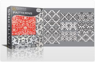 Seamless patterns vector pack 15 Vector Patterns victorian
