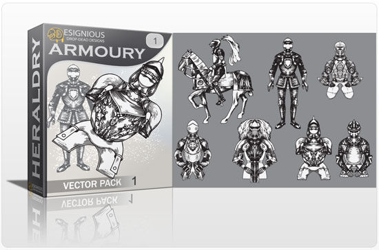 Armory vector pack Heraldry old