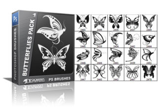 Butterflies brushes pack 1 Nature brushes [tag]