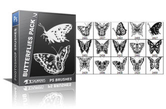 Butterflies brushes pack 2 Nature brushes [tag]