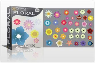 Floral vector pack 20 Floral flowers