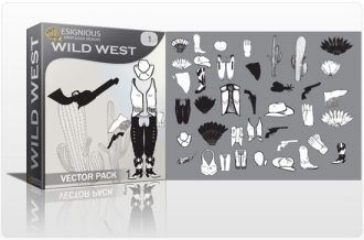 Wild west vector pack Wild west indian