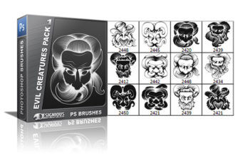 Evil creatures brushes pack 1 Religion brushes [tag]