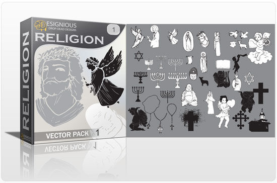 Religion vector pack Religion scroll
