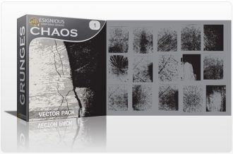 Chaos vector pack 1 Halftones & grunges grunge