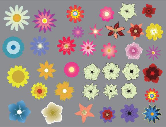 Floral vector pack 20 Floral flowers