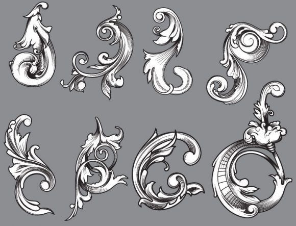 Floral vector pack 48 Floral vector