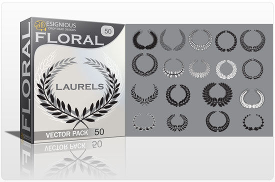 Floral laurel vector pack 50 Floral floral
