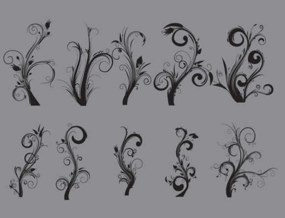 Floral vector pack 21 Floral tree