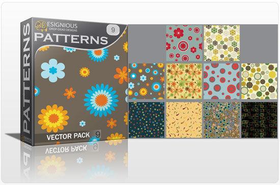 Seamless patterns vector pack 9 Vector Patterns flower