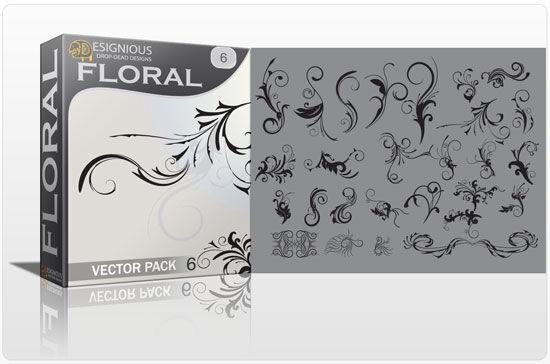 Floral vector pack 6 Floral banner