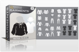 Garments vector pack Garments hat