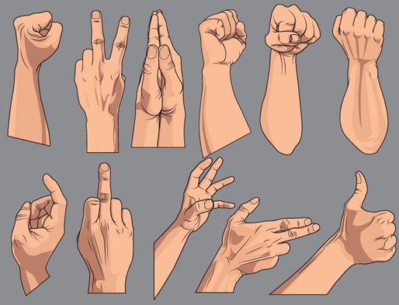Hands vector pack 2 People POWER