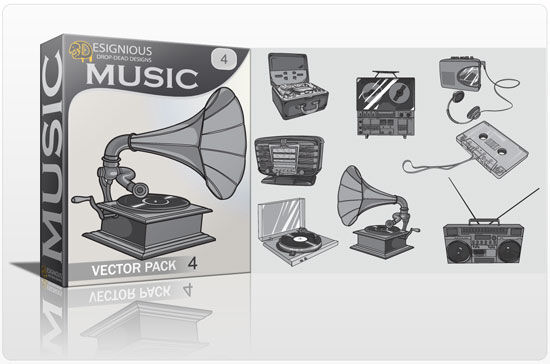 Music vector pack 4 Music old