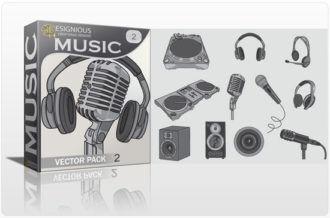 Music vector pack 2 Music mic