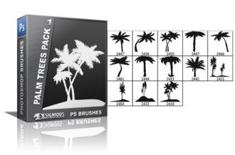 Palm trees brushes pack 1 Nature brushes [tag]