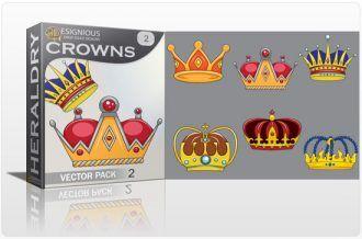 Crowns vector pack 2 Heraldry antiquity