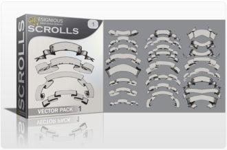 Scrolls vector pack 1 Scrolls ribbon