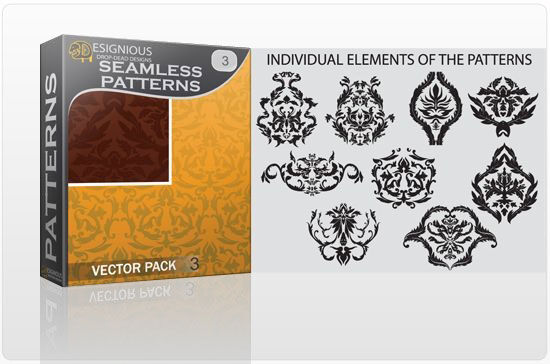 Seamless Patterns vector pack 3 Vector Patterns victorian