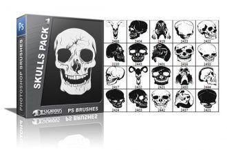Skulls brushes pack 1 Skulls brushes [tag]