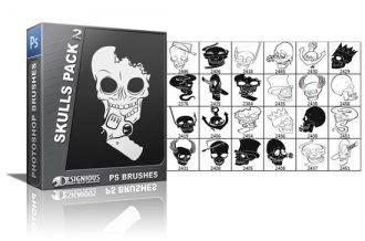 Skulls brushes pack 2 Skulls brushes [tag]