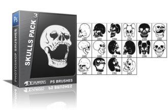 Skulls brushes pack 3 Skulls brushes [tag]