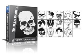 Skulls brushes pack 4 Skulls brushes [tag]