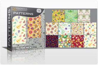 Seamless patterns vector pack 14 Vector Patterns floral