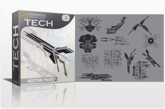 Tech shapes vector pack 2 Tech clip-art