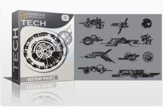 Tech shapes vector pack 5 Tech clip-art