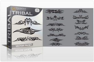 Tribal vector pack 7 Tribal vector