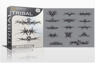 Tribal vector pack 4 Tribal vector