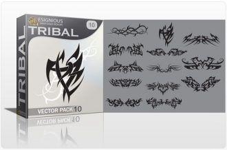 Tribal vector pack 10 Tribal vector