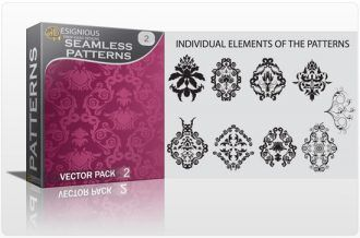 Seamless Patterns vector pack 2 Vector Patterns victorian