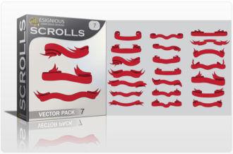 Scrolls vector pack 7 Scrolls ribbon