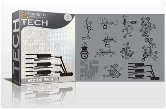 Tech shapes vector pack Tech clip-art