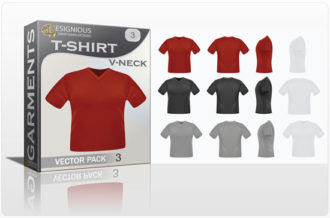T-shirt v-neck garments vector pack 1 Garments textile