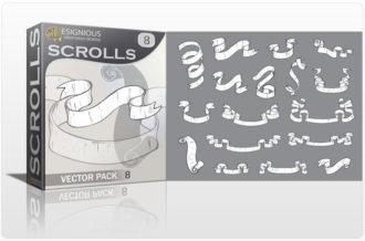 Scrolls vector pack 8 Scrolls ribbon