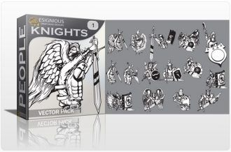 Knights Vector Pack Heraldry old