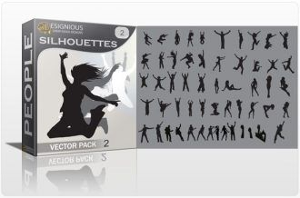 Silhouettes vector pack 2 People sign