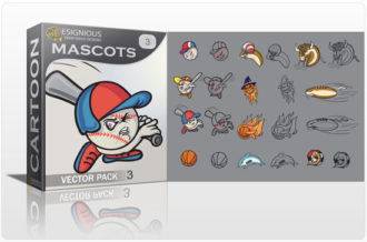 Mascots vector pack 3 Sport, Mascots & Cartoons ball