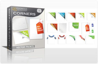 Corners vector pack 1 Stamps and stickers [tag]