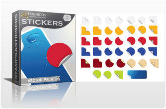 Stickers vector pack 2 Stamps and stickers [tag]