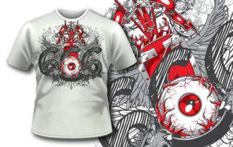 T-shirt design 240 T-shirt Designs and Templates vector