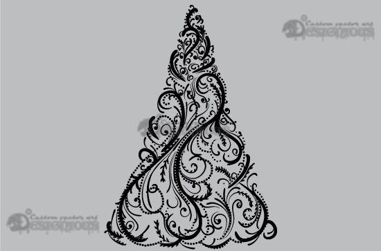 Christmas vector pack 1 Holidays tree