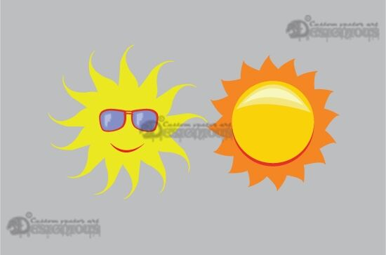 Sun vector pack Nature star
