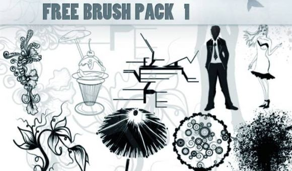 Free ps brush pack 1 Freebies vector