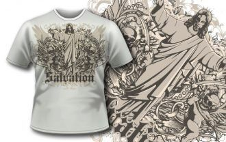 T-shirt design 289 – Evil Jesus T-shirt Designs and Templates vector