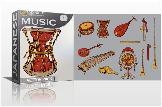 Japanese Music Vector Pack 1 Japanese Art [tag]