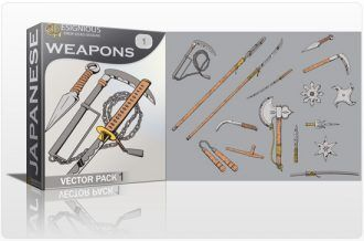 Japanese Weapons Vector Pack 1 Japanese Art [tag]
